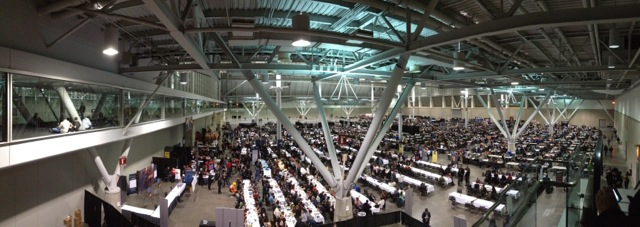 Panorama of the tabletop area